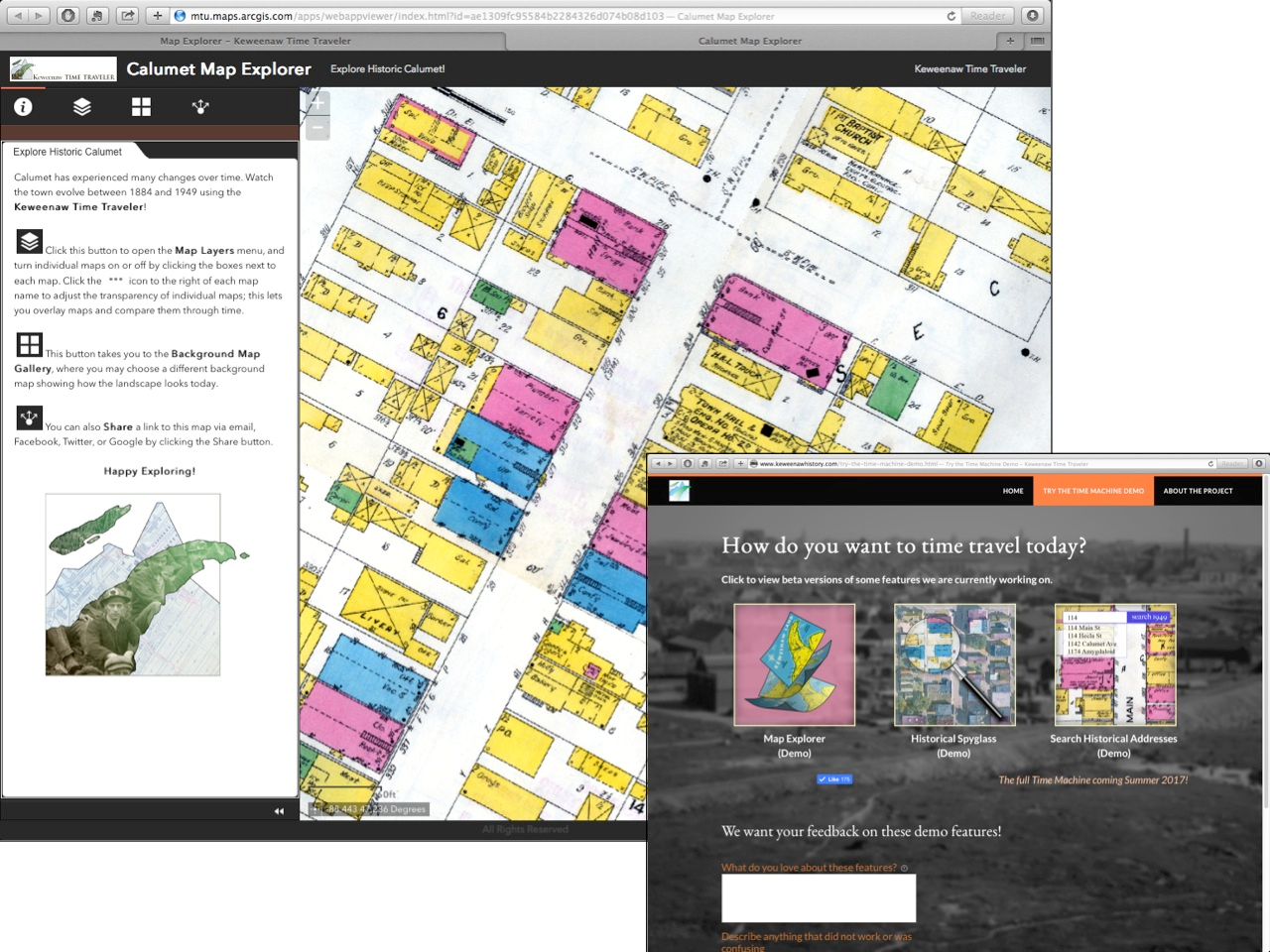 The KeTT prototype web apps, developed in ArcGIS Online Web AppBuilder, allowed the team to gain valuable experience in developing requirements for the forthcoming full public launch of the KeTT Project.